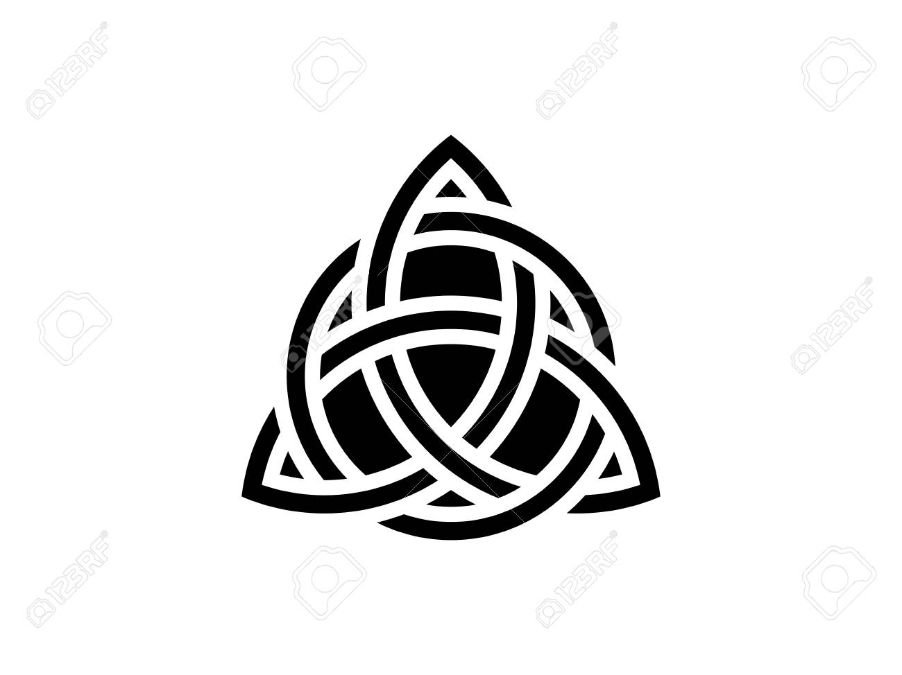 Triquetra. Trinity knot. Celtic symbol of eternity. Vector illus